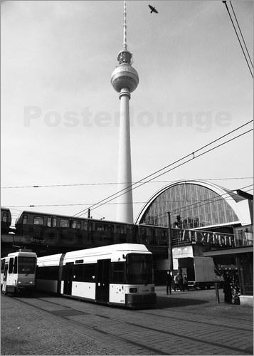 Berlin Alexanderplatz Alexanderplatz, Alex, S Bahn, television tower, metro, architecture, Berlin, Germany, black and white