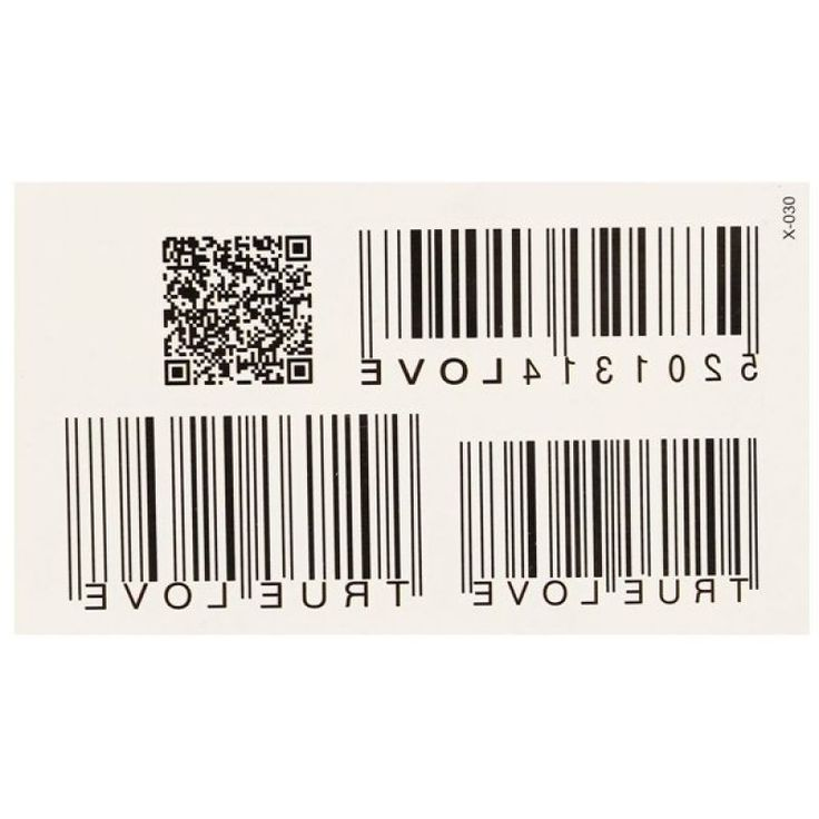 2Pcs Personalized Waterproof Barcode Totem Tattoos Sticker Removable Body Art  - Gchoic.com