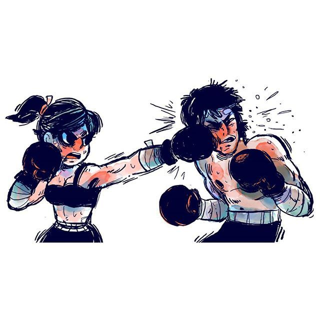 Fight pose