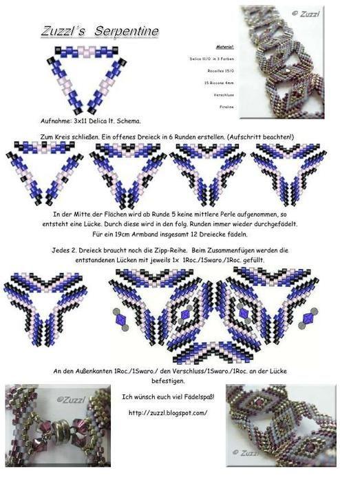 tuto of triangle bracelet
