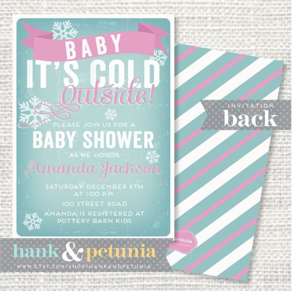 74 best baby, it's cold outside images on pinterest | penguin baby, Baby shower invitations