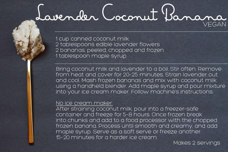 Ice Cream Recipe: Vegan Lavender Coconut | Squirrelly Minds