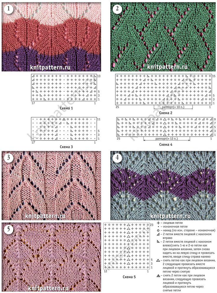 фото узоров вязания на спицах