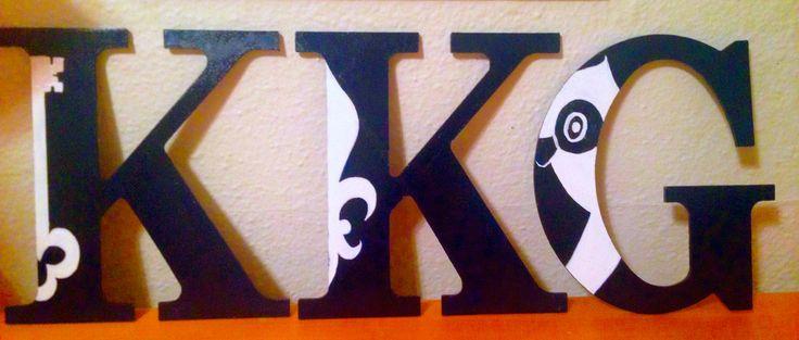 Paint the Owl, the Key, & Fleur de Lis on letters, cute and simple!