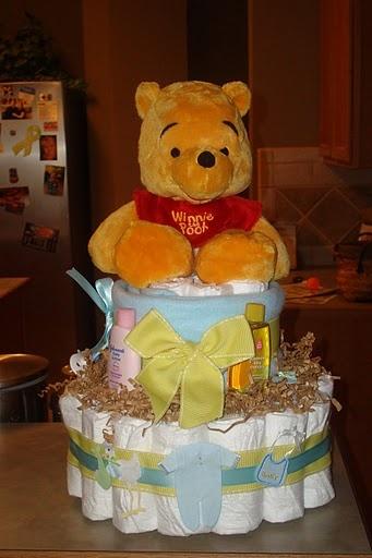 Winnie The Pooh Diaper Cake by @Joanna Osborne