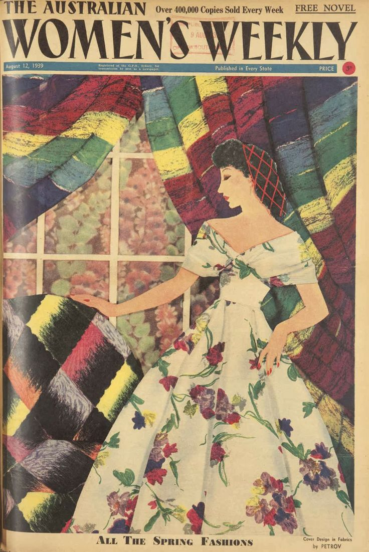Australian Women's Weekly: Fabric cover by Petrov August 12, 1939