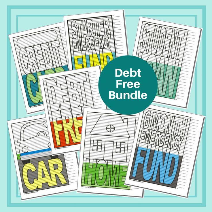 Debt Free Bundle of 7 Charts Debt free, Debt, Budgeting