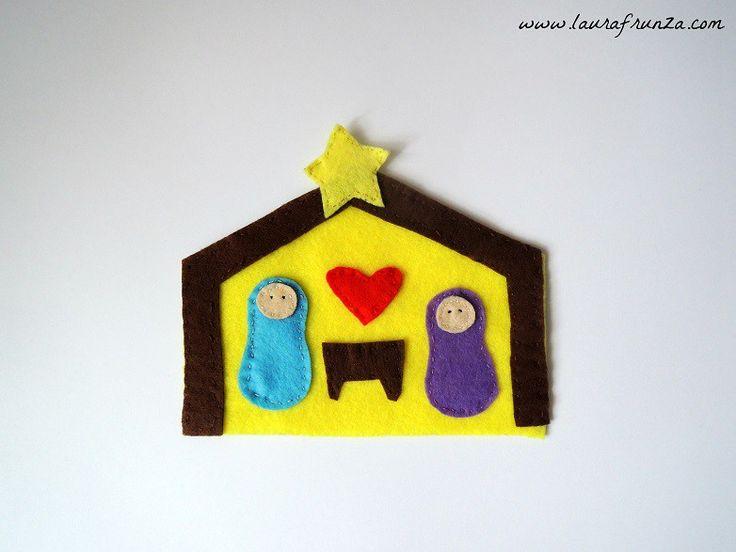 Felt Nativity Scene - kid craft