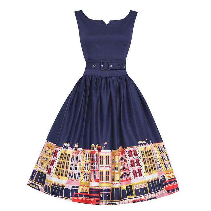 Delta Carnaby Street Swing Dress| 50s Inspired Fashion - Lindy Bop