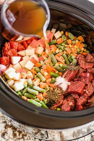 Vegetable Beef Soup | 21 Crock Pot Dump Dinners For Winter