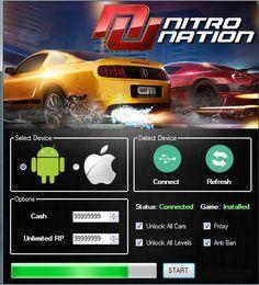 Nitro Nation Hack Tool Cheats Engine Latest No Survey Download