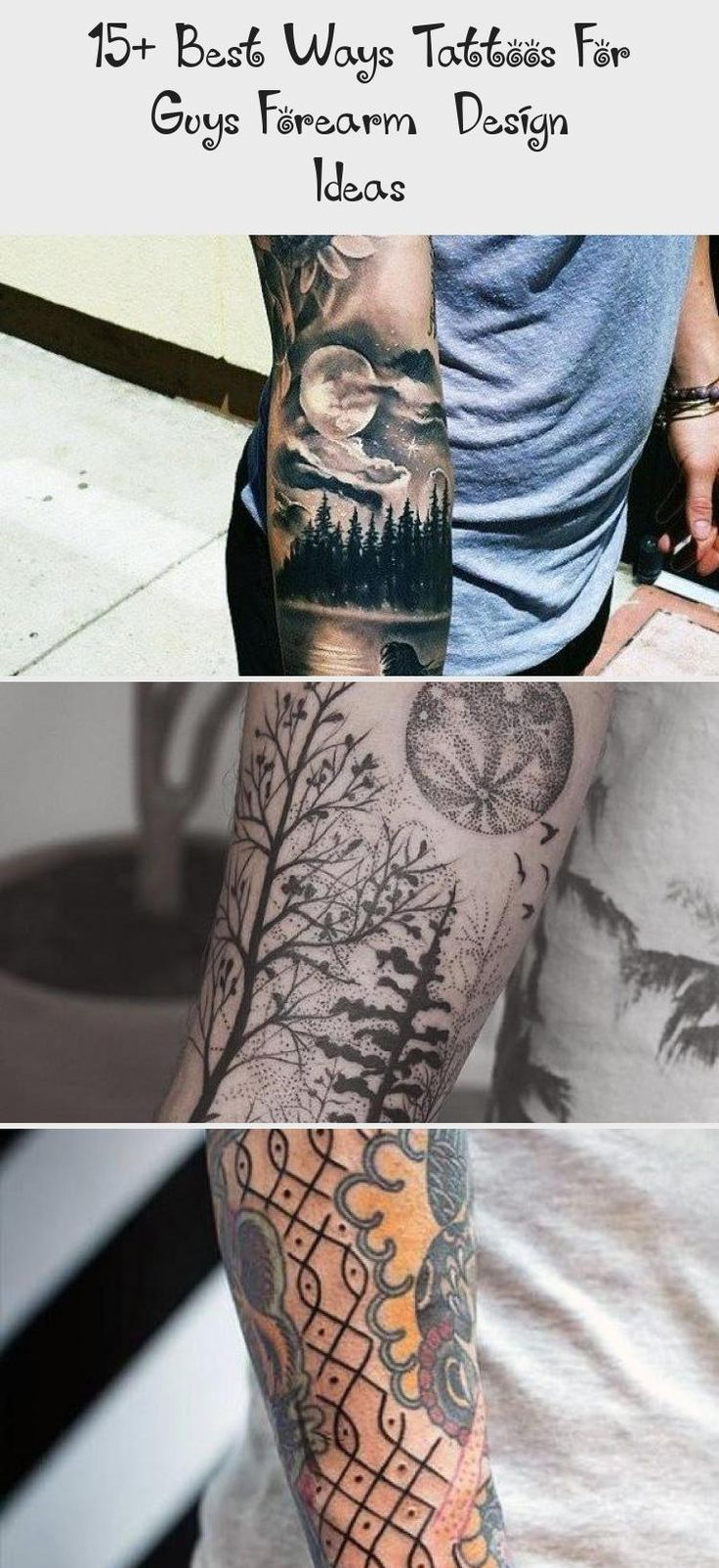 15+ Best Ways Tattoos For Guys Forearm Design Ideas
