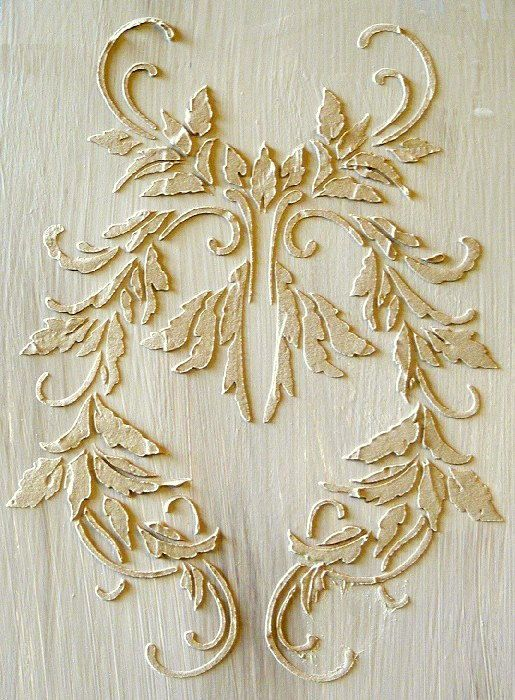 Raised Plaster Charleston Damask Stencil by Victorysprings on Etsy, $28.99