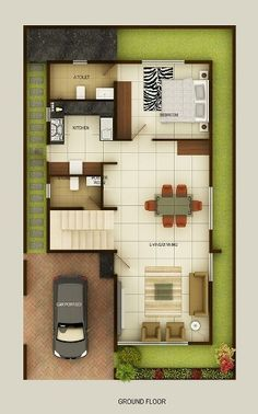 Duplex Floor Plans | Indian Duplex House Design | Duplex House Map                                                                                                                                                      More