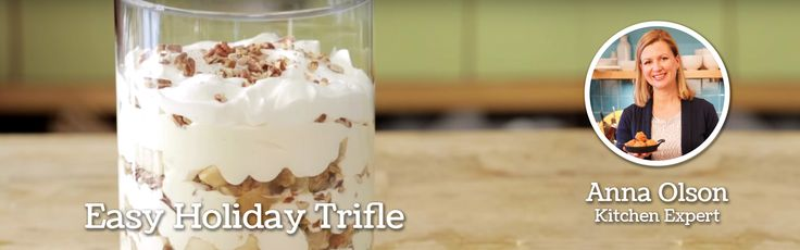 Anna Olson, Home Hardware's Kitchen Expert shares her Apple Crisp & Bourbon Cream Trifle recipe for an easy holiday dessert.