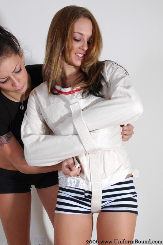 Women in straight jackets