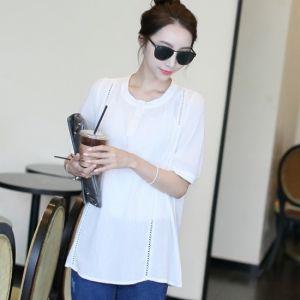 Republic of Korea reigning Women's Clothing Store [CANMART] Foy lace blouse / Size : FREE / Price : 37.41USD #blouse #whiteblouse#korea #fashion #style #fashionshop #apperal #koreashop #missy #canmart