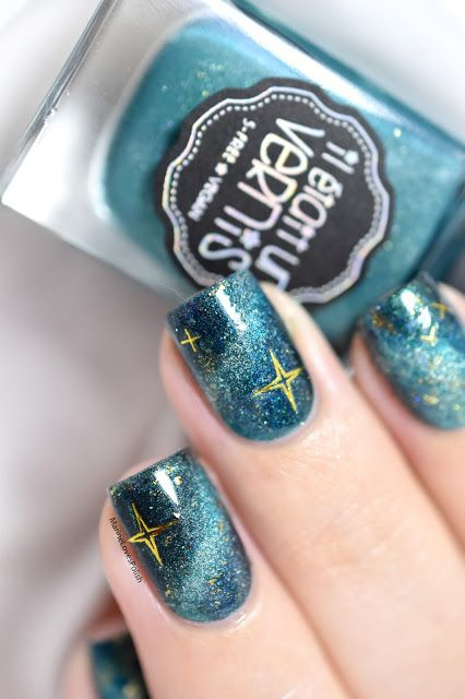 Marine Loves Polish: Nailstorming - Teal / Galaxy Nails [VIDEO TUTORIAL] - Bundle Monster Teenage Dream Foil stickers