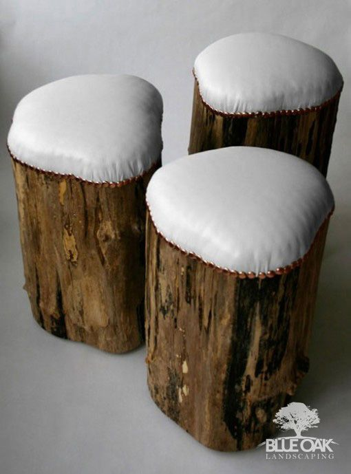 blue-oak-landscape-design-chico-california-glow-in-the-dark-planters  12 DIY #BackyardDesign ideas that will make your backyard amazing! Most of these items can be #upcycled which is pretty cool. What's the coolest DIY backyard project you've ever seen?  #logs #logbenches #seats #customseats  #logseats #landscape #landscapedesign