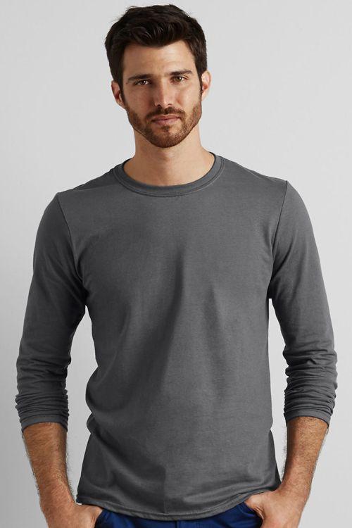 Tricou bărbat cu mânecă lungă Softstyle® Gildan din 100% bumbac jerseu care nu se strânge #tricouri #brodate #personalizate #gildan #promotionale #barbati