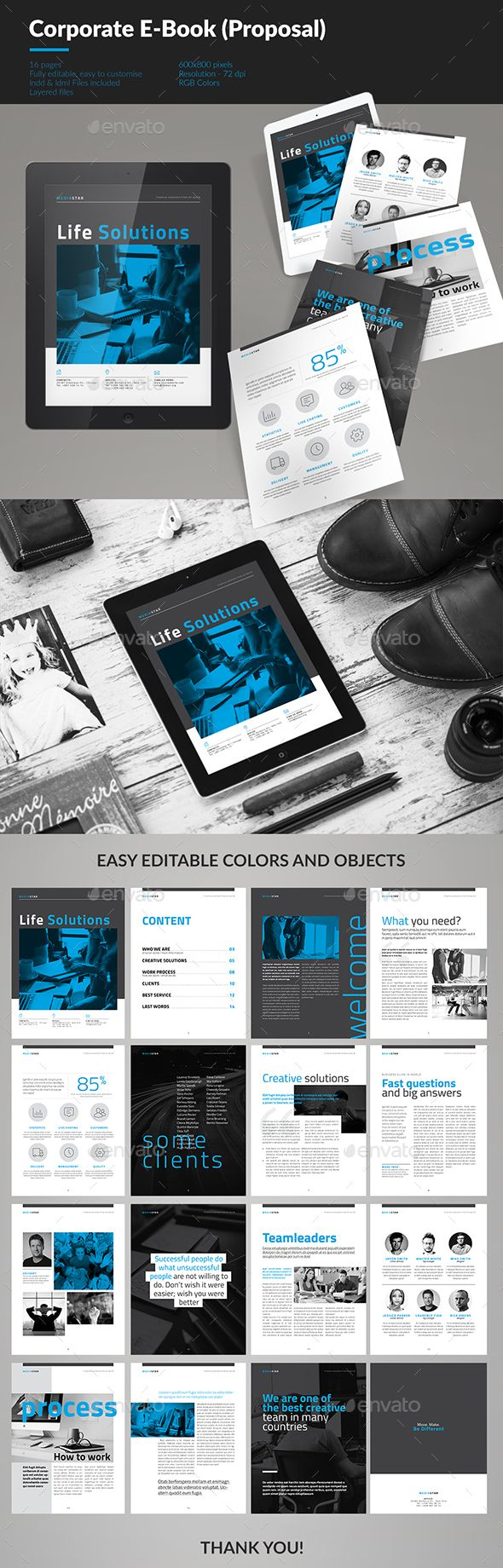 30 best interactive pdf portfoliopresentation images on pinterest corporate e book template vol5 fandeluxe Choice Image