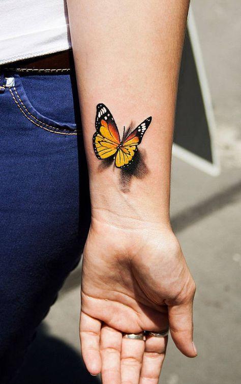 40 Trendy Ideas For Tattoo Butterfly Arm Birds 3d Butterfly