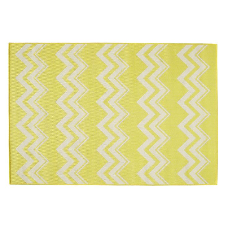 LATAIA polypropylene outdoor rug in yellow 160 x 230cm | Maisons du Monde