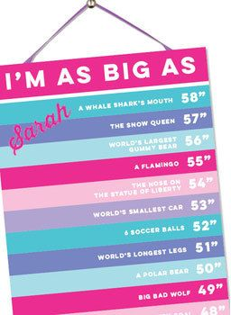 Happy Heights Growth Chart for Girls (Personalization Included) :: For That Occasion