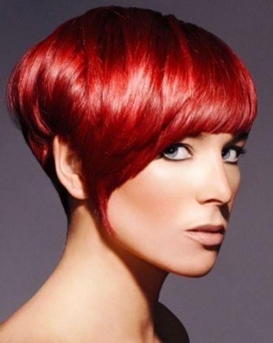 tendenze colore capelli corti 2013 rosso fuoco