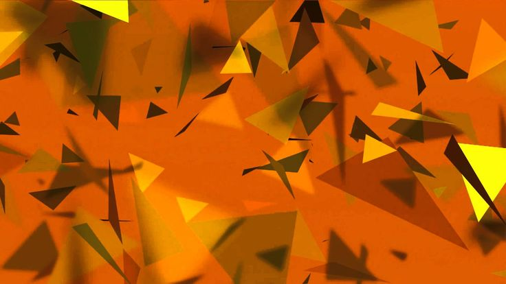 Raining golden triangles - HD animated background #16