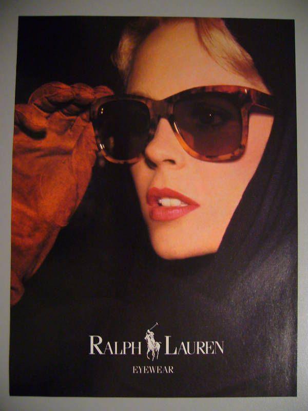 Ralph Lauren Eyeware 80s Magazine Ad   eBay