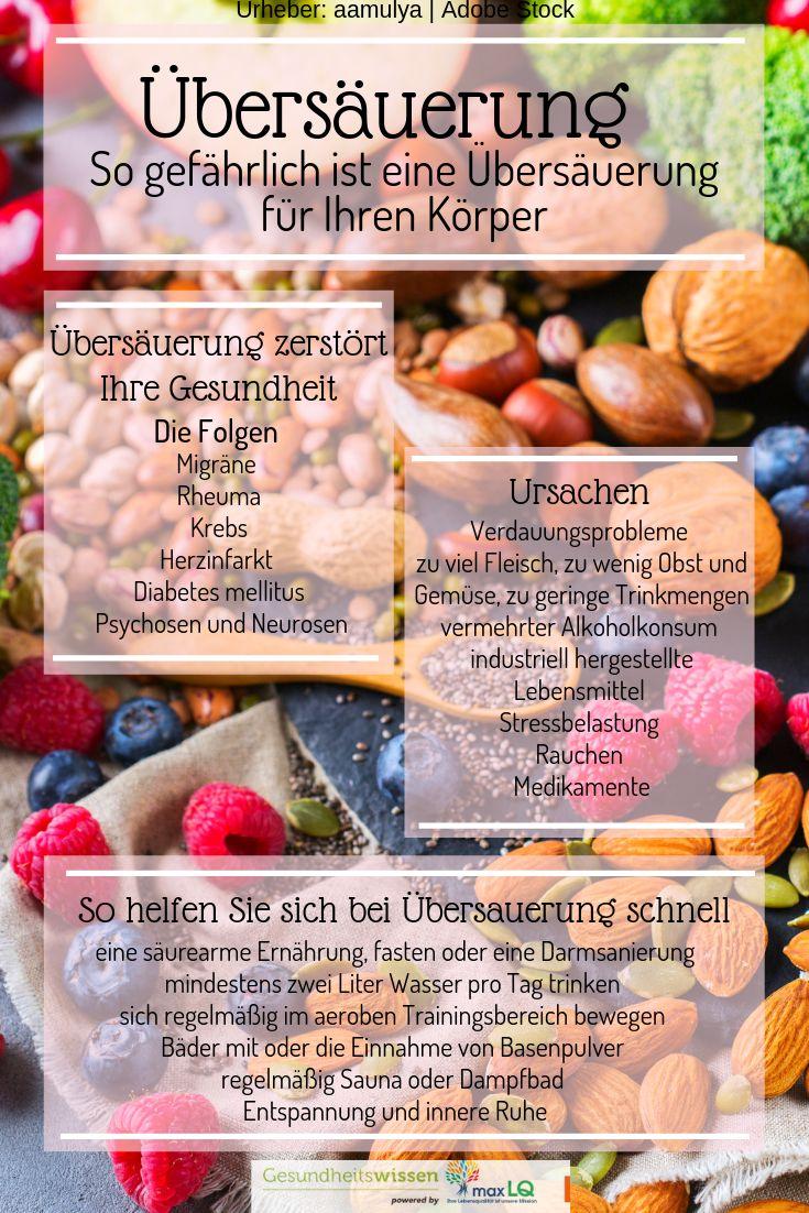 Übersäuerung: Ursachen, Symptome, Vorbeugung und Behandlung | Lebensmittel gegen Übersäuerung #GesundeErnährung