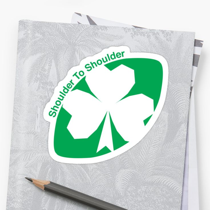 Rugby Ireland Sticker by Fimbis  #WRWC2017 #WRWC #rugby #shamrock #shouldertoshoulder #irish #graphicdesign #stickers #coybig #coygig