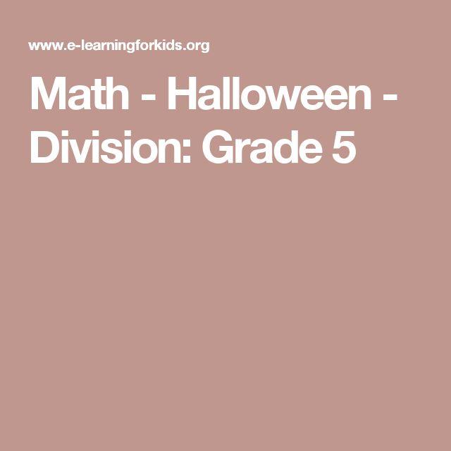 Math   Halloween   Division: Grade 5