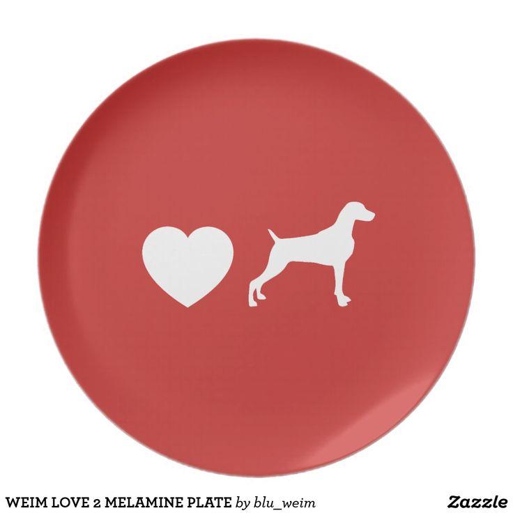 WEIM LOVE 2 MELAMINE PLATE