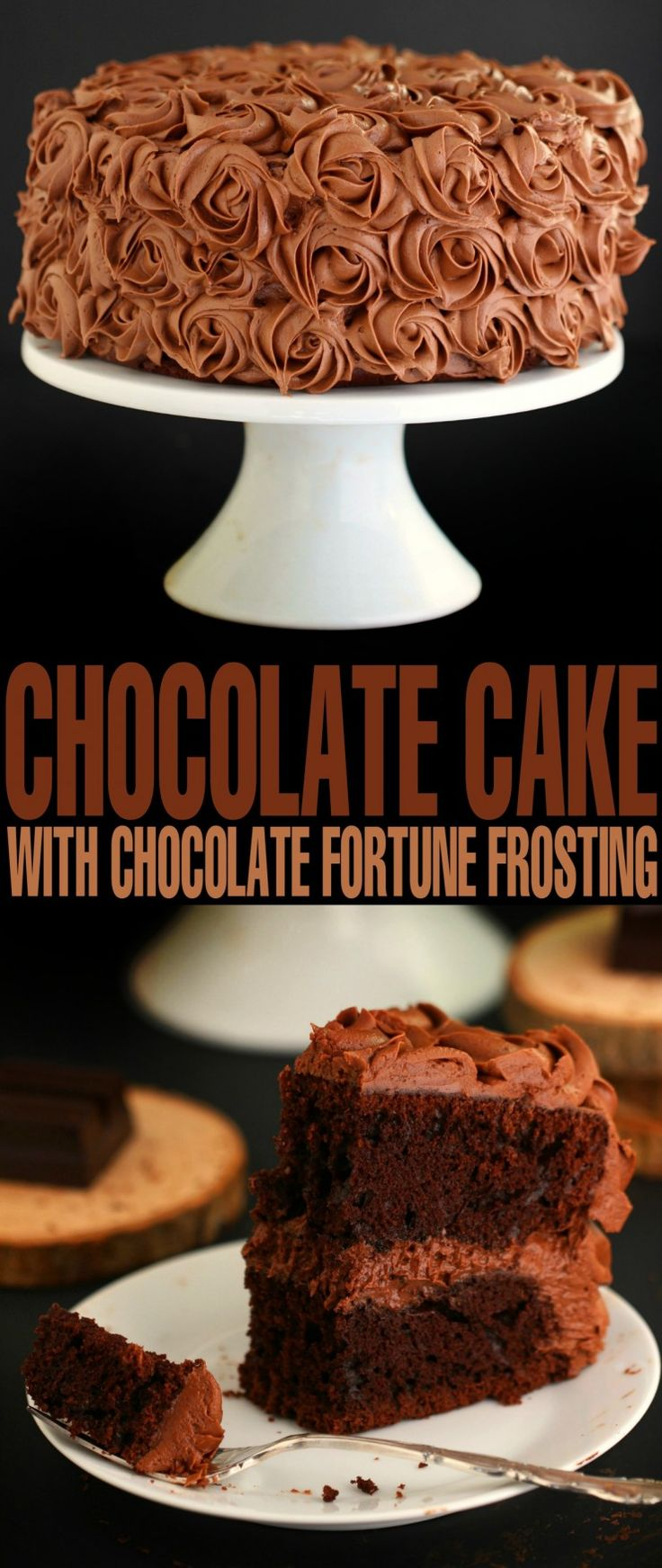 This recipe for Chocolate Cake with Chocolate Fortune Frosting is one of my Grandmothers recipes. I've revamped it to make it moist and delicious, keeping the incredible frosting the same.