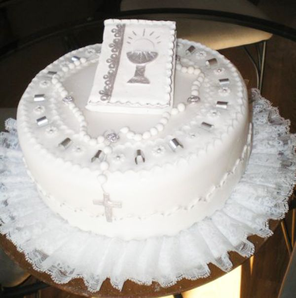 Pastel fondant primera comunión - Imagui