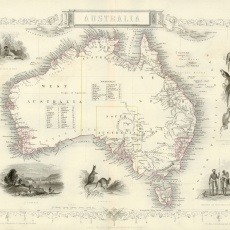 Antique 19th Century Tallis Australia Map - 'speak absolutely fabulous english' www.polly-glot.com