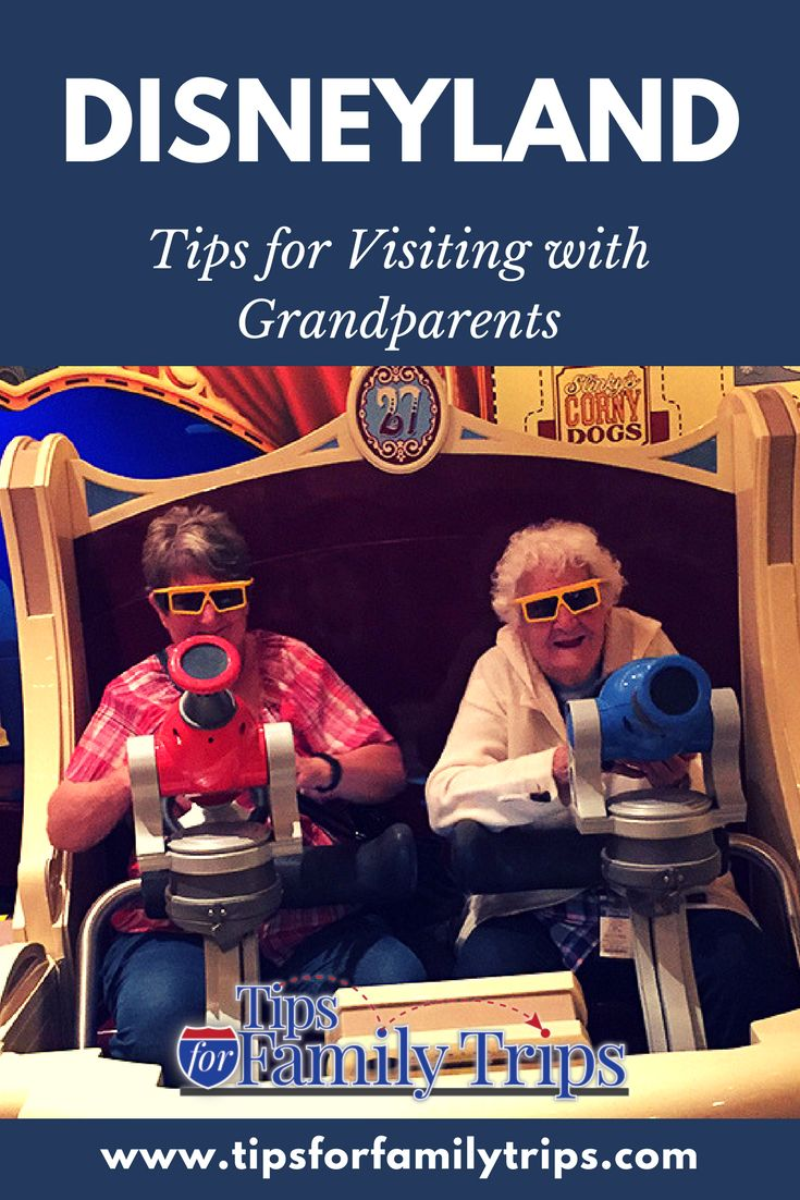 Planning to visit Disneyland with seniors or an extended family group? Our last trip covered four generations - including my 92-year-old grandmother. Here are my top tips for visiting Disneyland with grandparents. | tipsforfamilytrips.com | #Disneyland #California #travel #familyreunion #summervacation