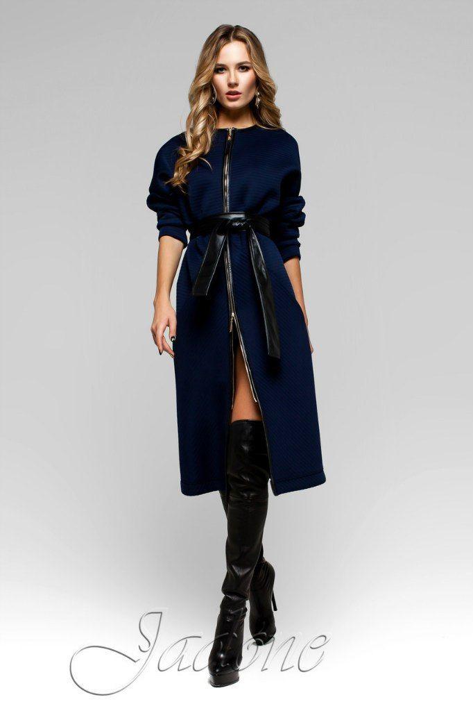 Тренч-пальто Greta темно синее