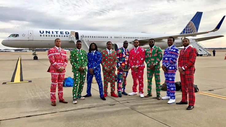 The Titans linebackers holiday suits, Craig Sager would be proud!