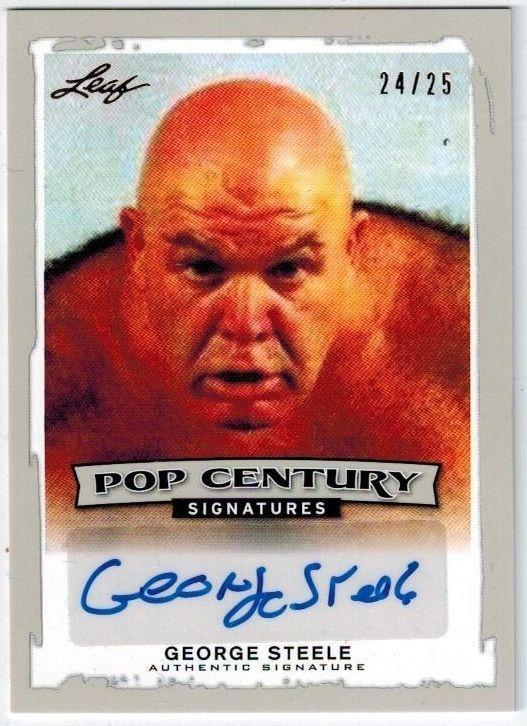 "George ""The Animal"" Steele 2014 Leaf Pop Century Auto / Signed 24/25 BA-GS1"