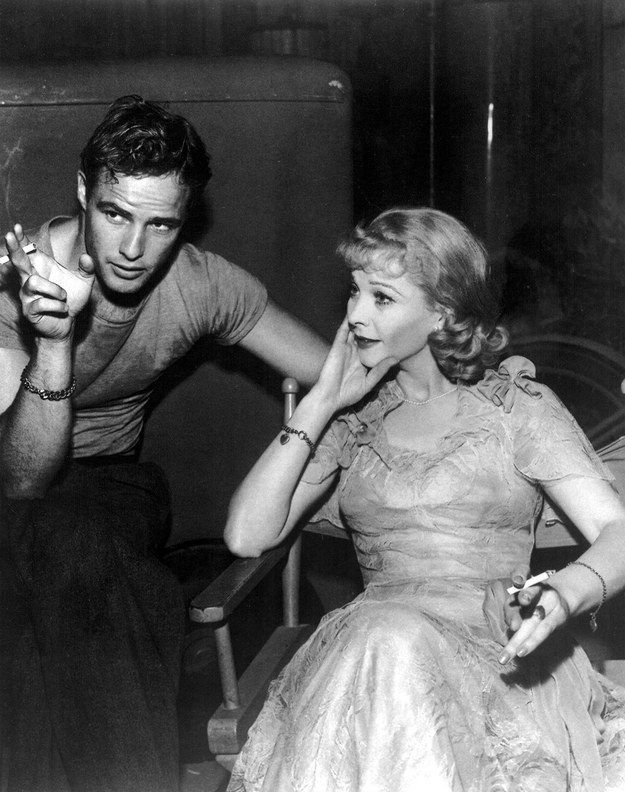 That way that Vivien Leigh's paying attention to him. That would be me, always. | 19 Reasons Young Marlon Brando Will Ruin You For The Rest Of The Day