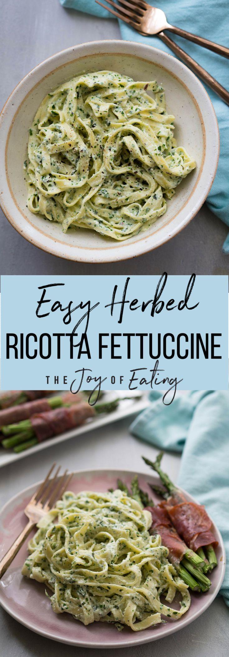Easy Herbed Ricotta Fettuccine Rezept