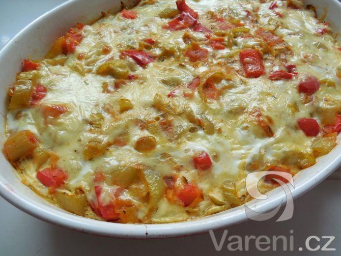 Zapékané zeleninové brambory -