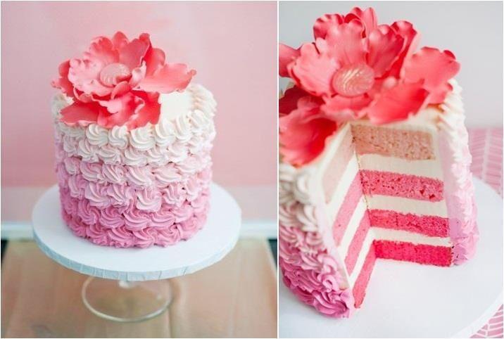 Simple Pretty Birthday Cakes