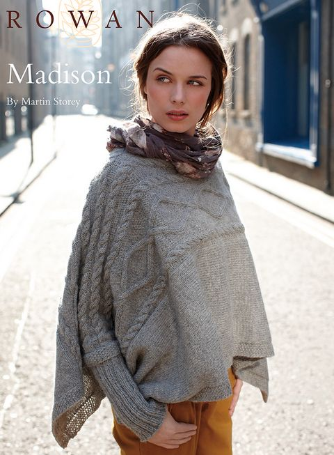 Free Rowan pattern: Madison by Martin Storey, in Rowan Creative Focus Worsted. This one makes a BEELINE straight to my queue!!