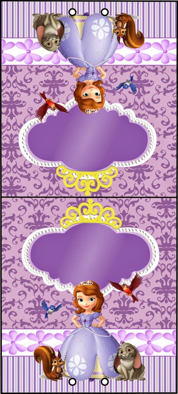 386 best princesa sofia images on pinterest sofia party sweet sofia the first free printable invitations and candy bar labels amipublicfo Images