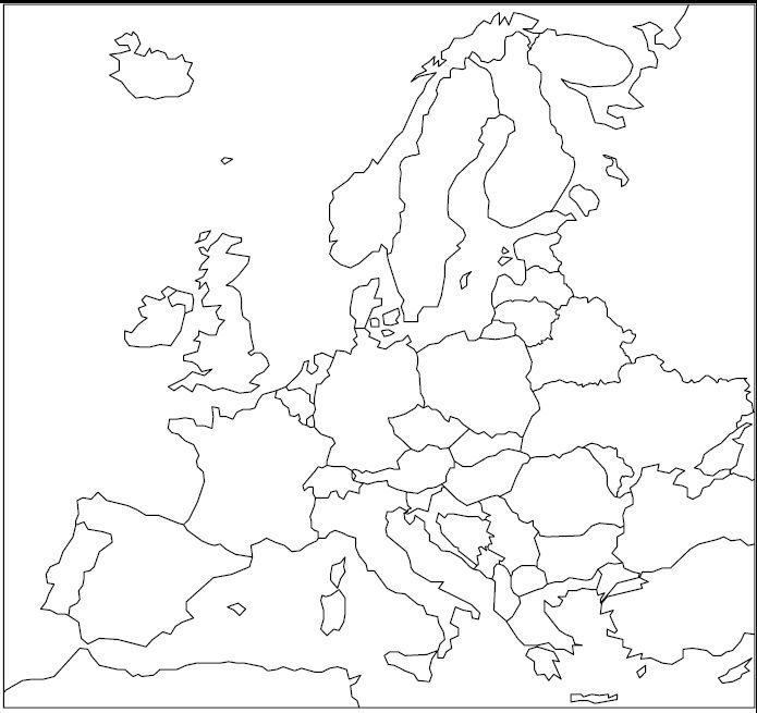 Nema Karta Evrope Geografia Atividades De Geografia Mapa