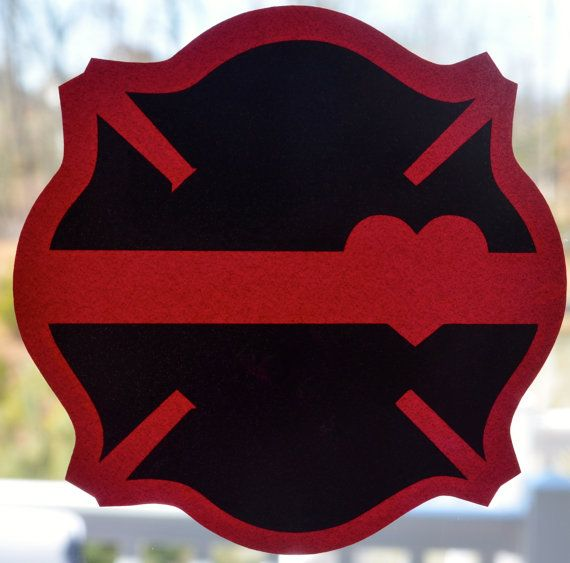 Thin Red Line Firefighter vinyl car decal by HooahHoneyHomemade, $7.00
